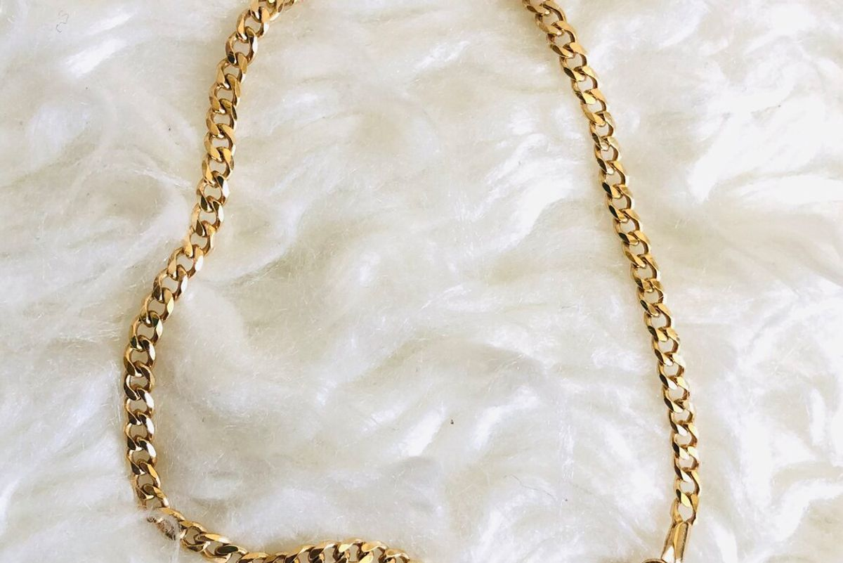 lola ade 18k gold filled classic chain anklet
