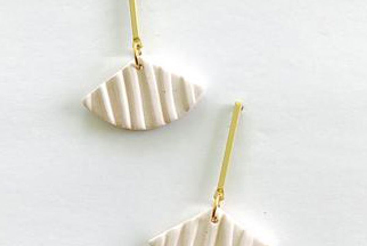 br design co textured and brass earrings