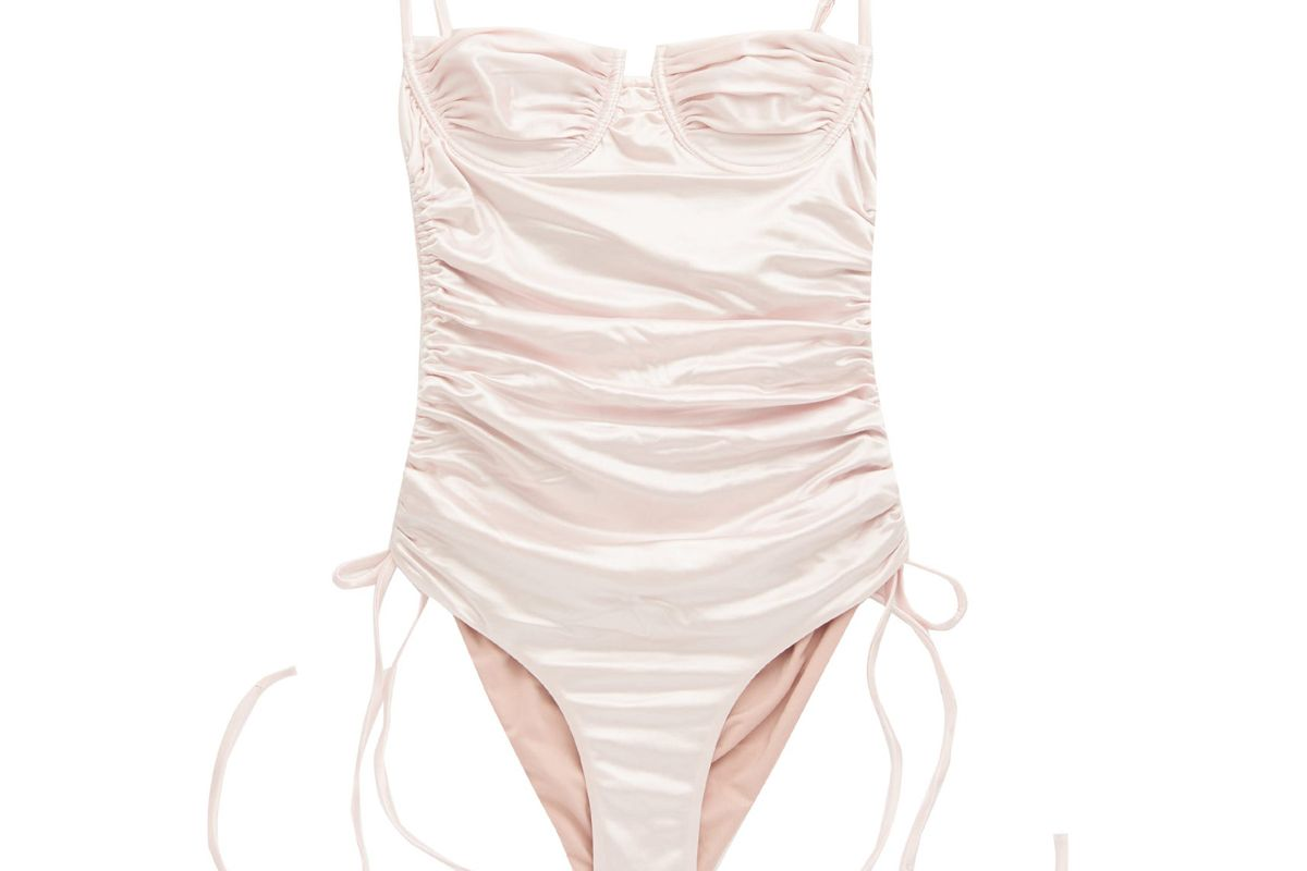 isa boulder nina underwired ruched swimsuit