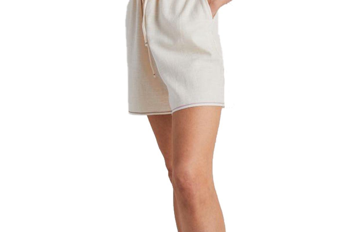 still here natural selvedge scrunch shorts