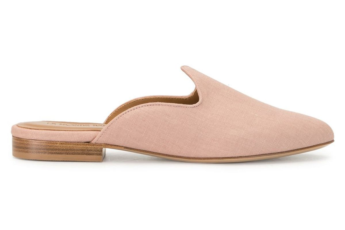 le monde beryl textured low heel mules