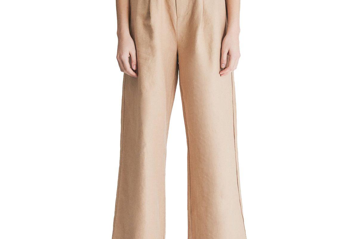 hidden forest market wide linen pants in beige