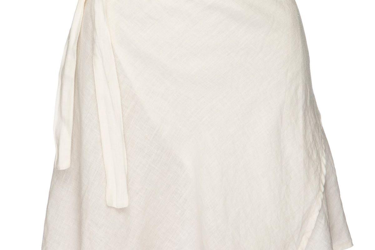 monday swimwear manaco linen skirt ivory