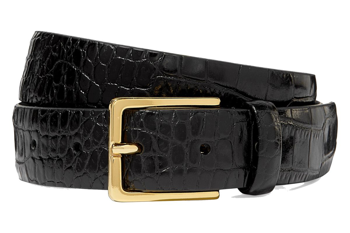 andersons croc effect leather belt