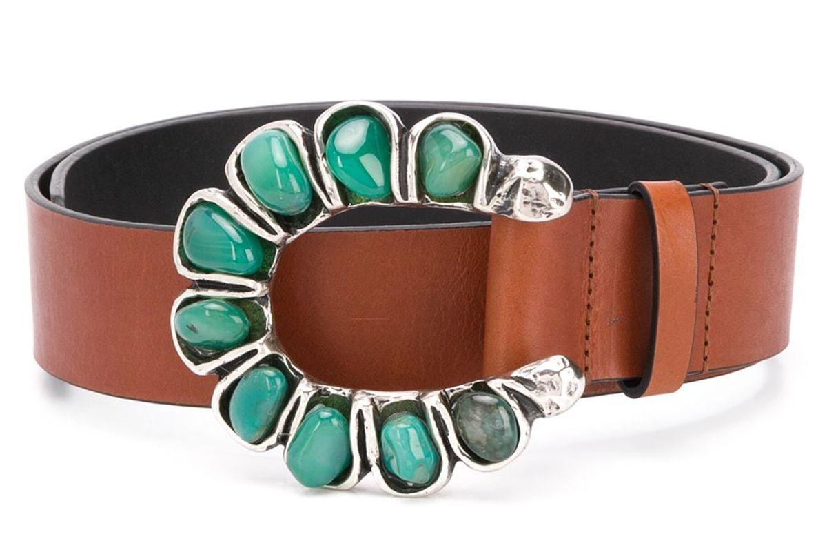 dorothee schumacher stone buckle belt