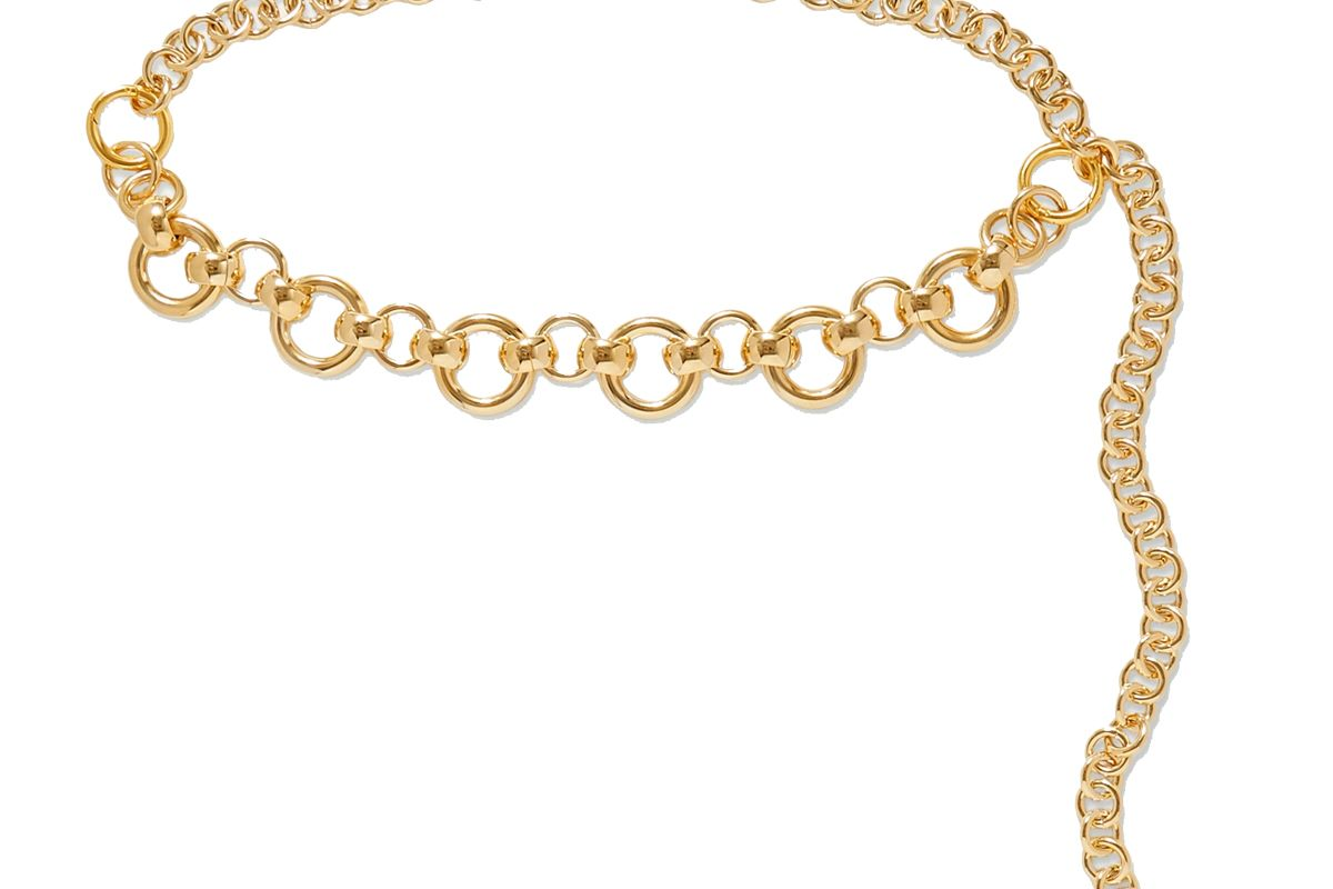 laura lombardi amara gold plated belt