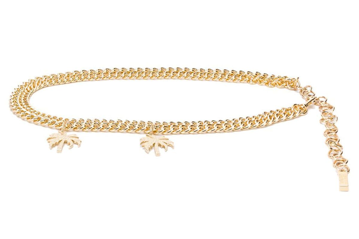 versace jeans couture chain belt