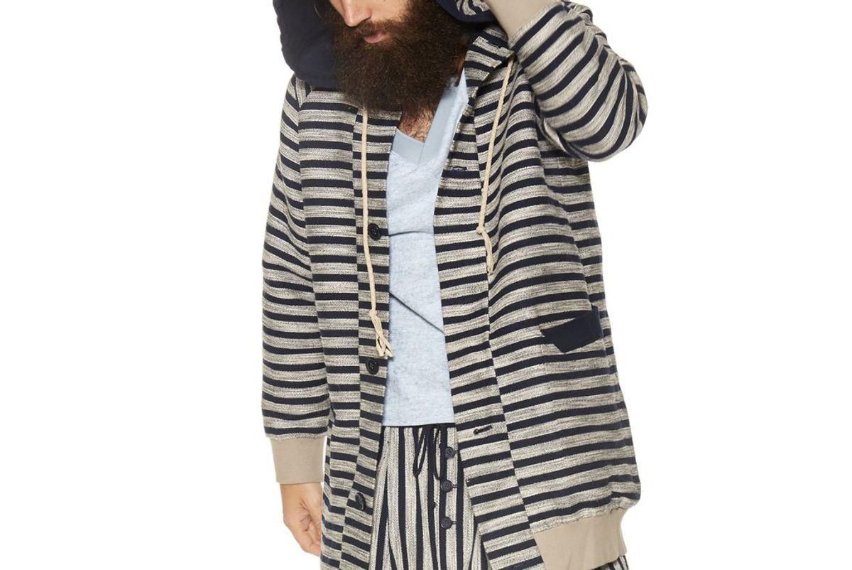 Stripe Cocoon Hoodie
