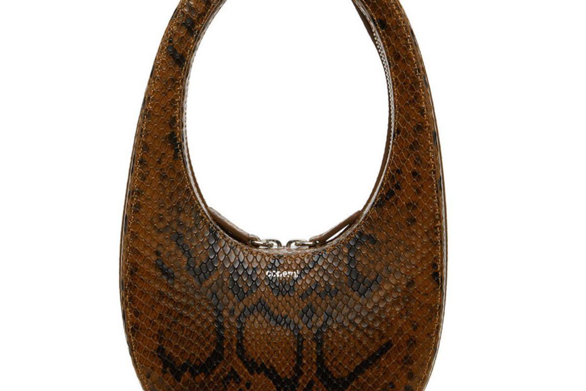 coperni python mini oval bag