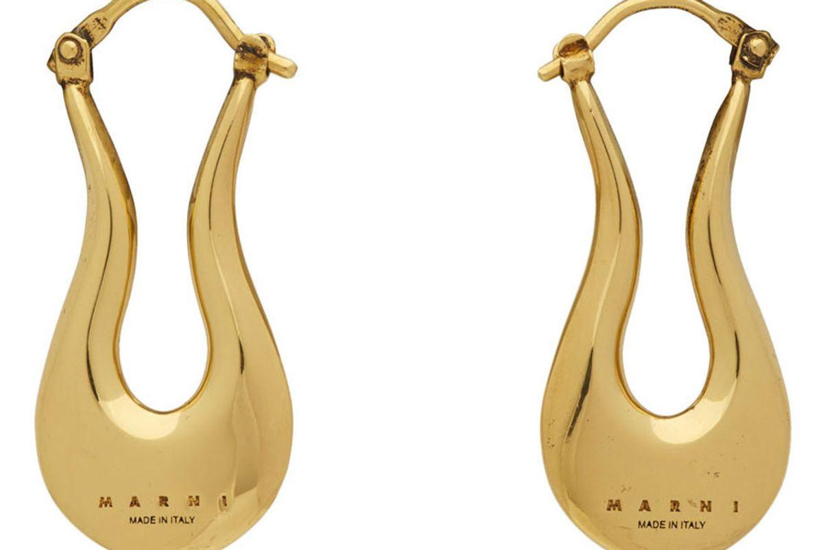 marni blow up harp earrings