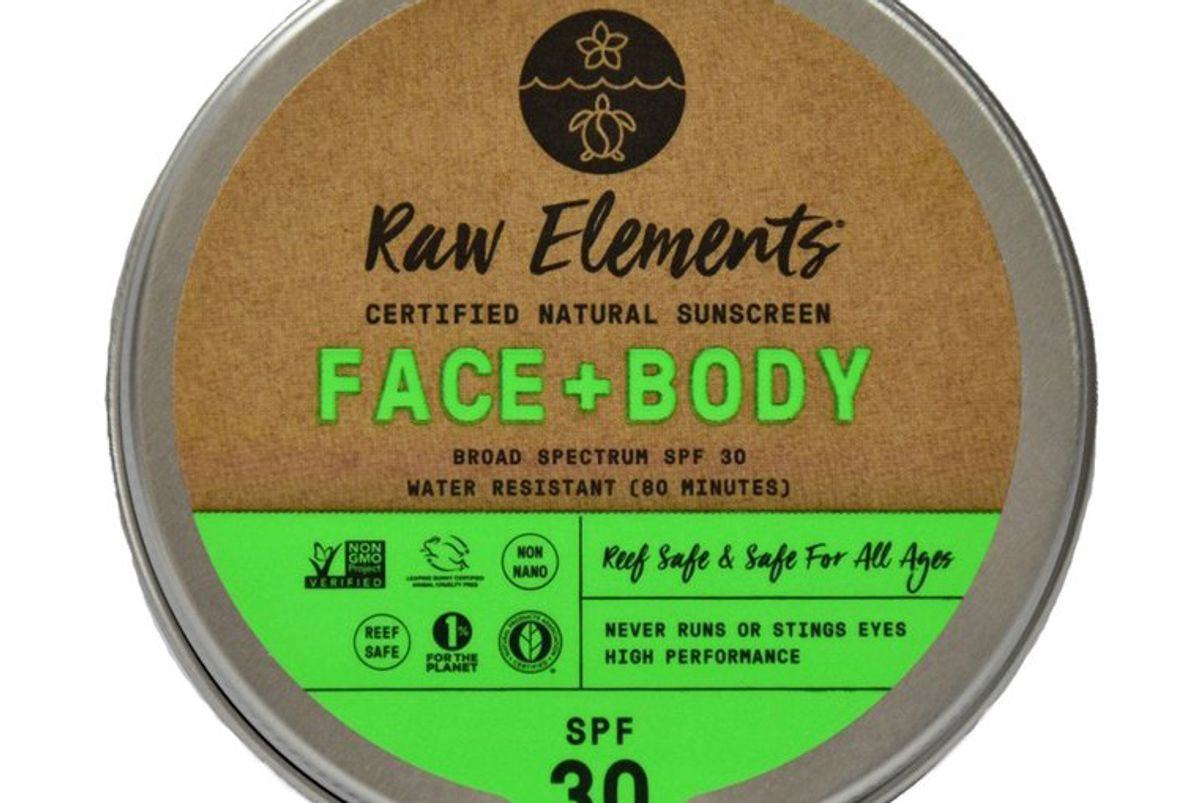 raw elements face and body tin spf 30