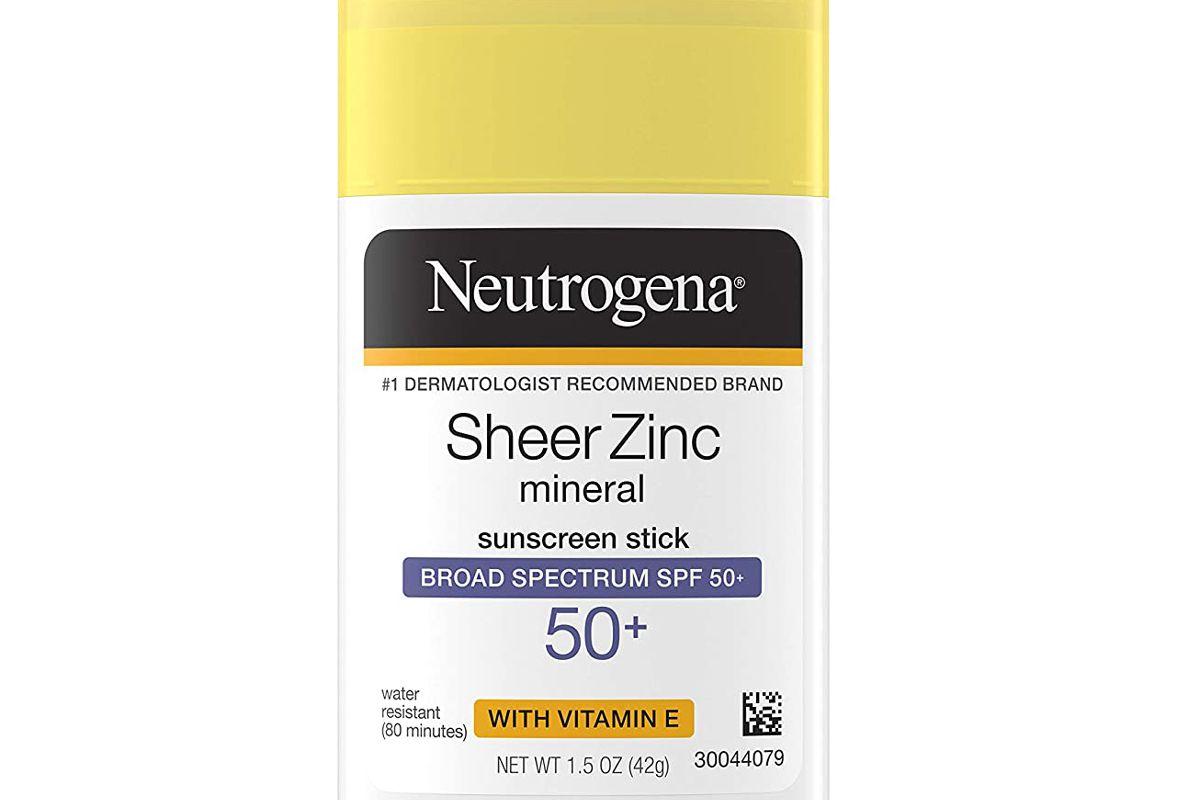 neutrogena sheer zinc oxide mineral sunscreen stick