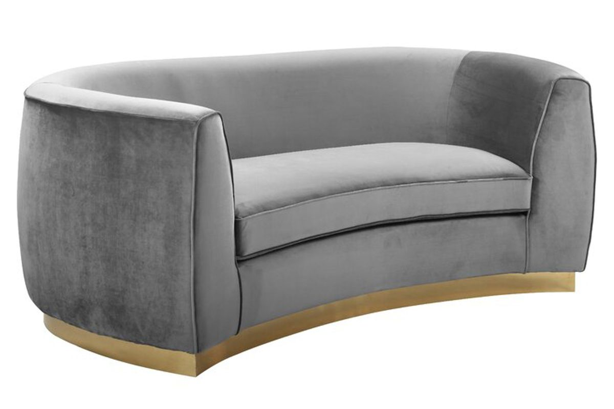 orren ellis antonsen velvet curved 70 5 inches round arm sofa