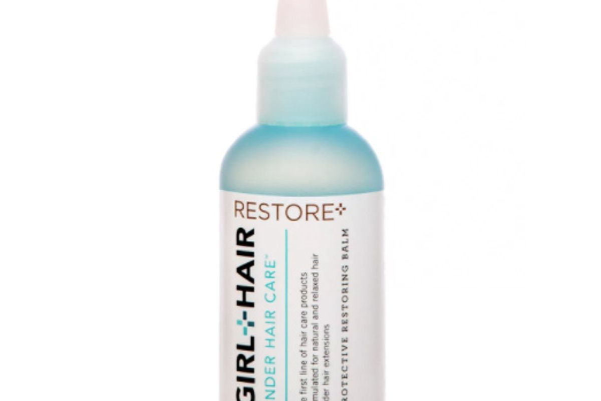 girl hair restore with shea butter and castor oil hair treatment balm