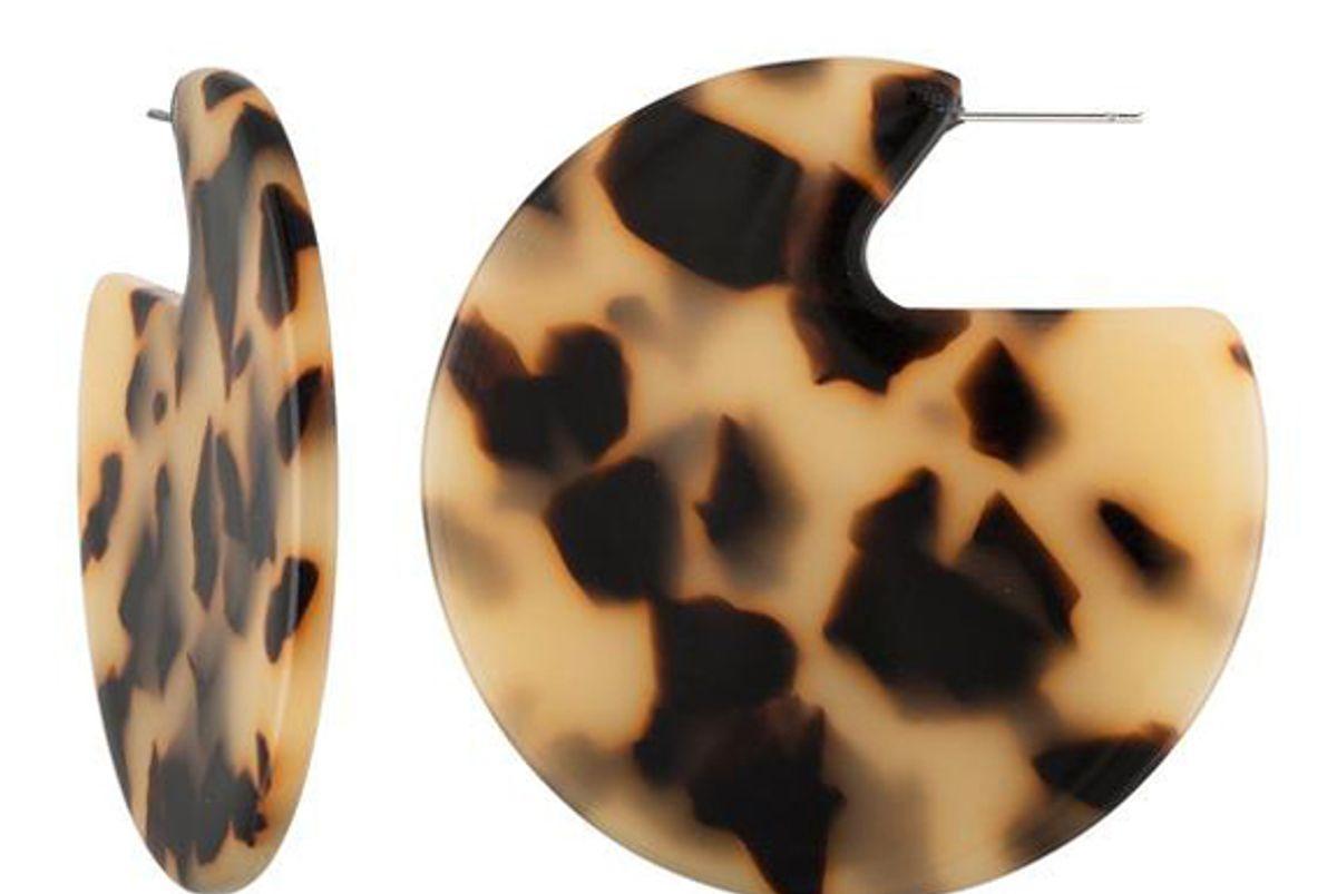 machete clare earrings in blonde tortoise