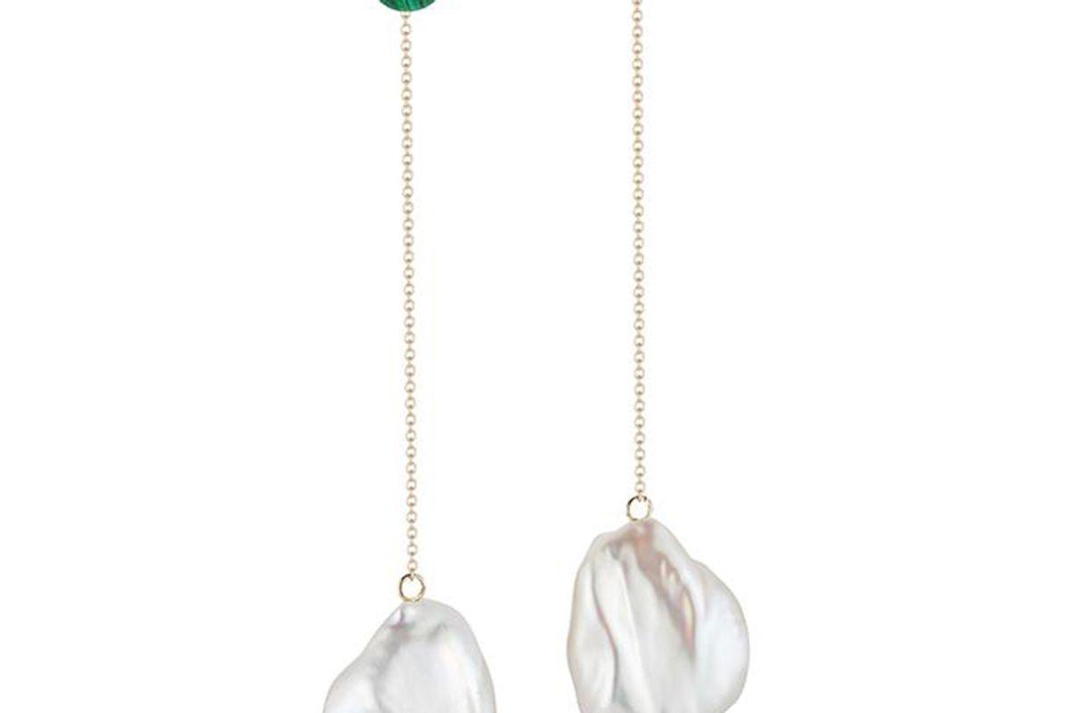 mateo ny duality pearl and malachite danglers