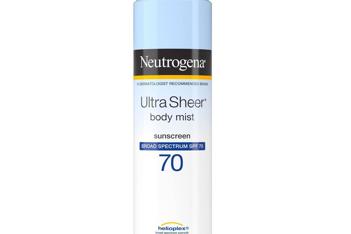 neutrogena ultra sheer lightweight sunscreen spray spf 70