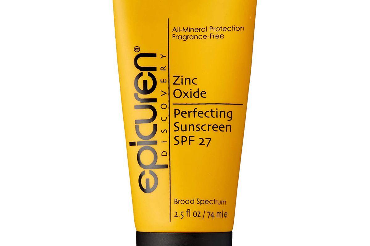 epicurean zinc oxide perfecting sunscreen spf 27