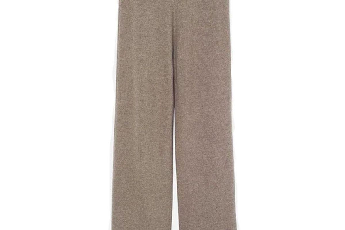 the frankie shop rib knit lounge pants