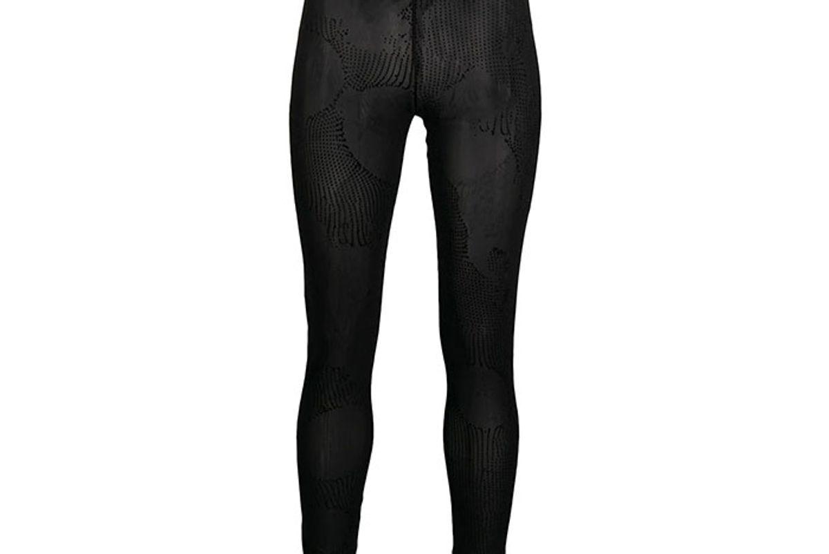 diesel flock print mesh leggings