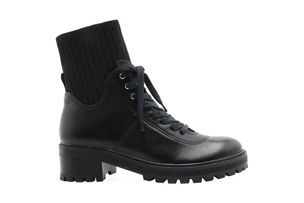 schutz becky leather sock combat boots