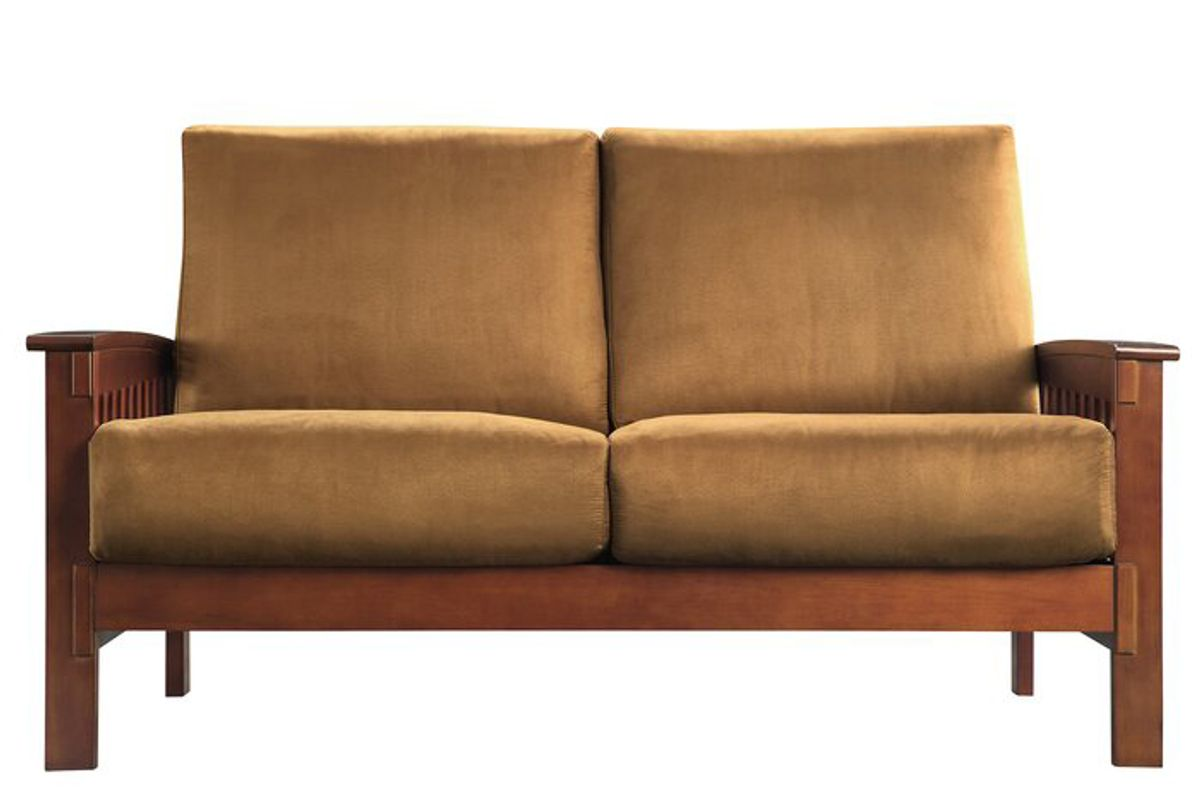 charlton home wydmire mission 60 inch recessed arms loveseat