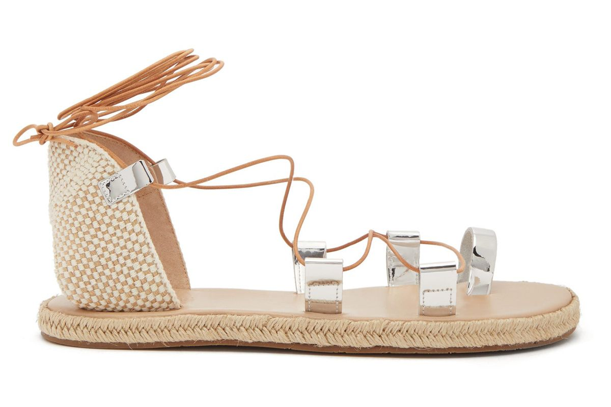 ancient greek sandals esmeralda crossover leather espadrille sandals