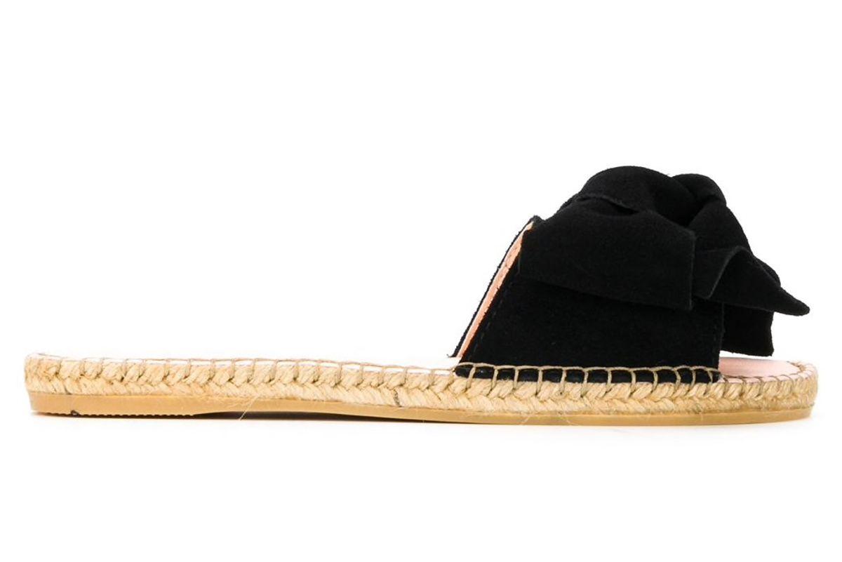 manebi hamptons bow jute sole slides