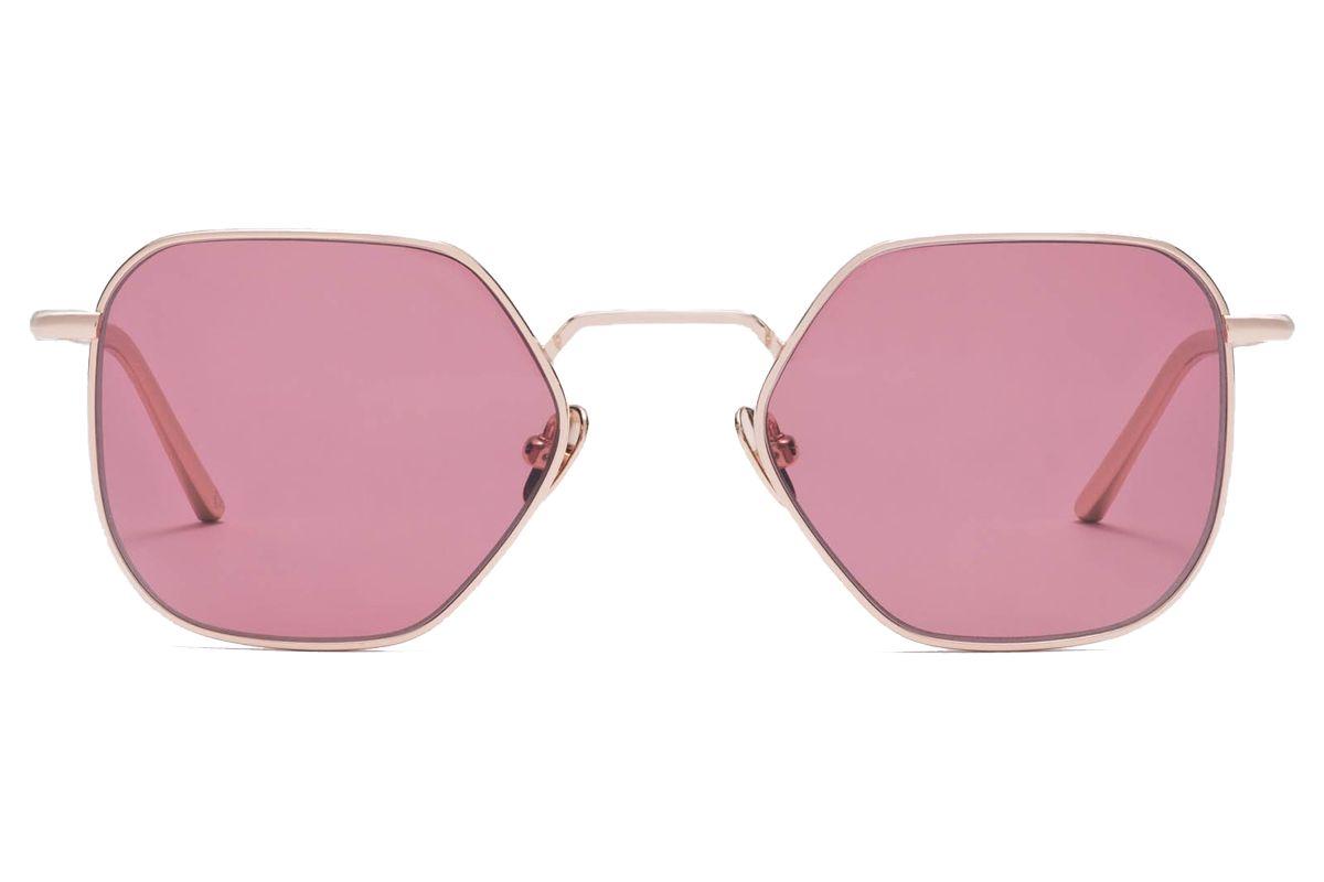 bold dots jean rose gold titanium sunglasses