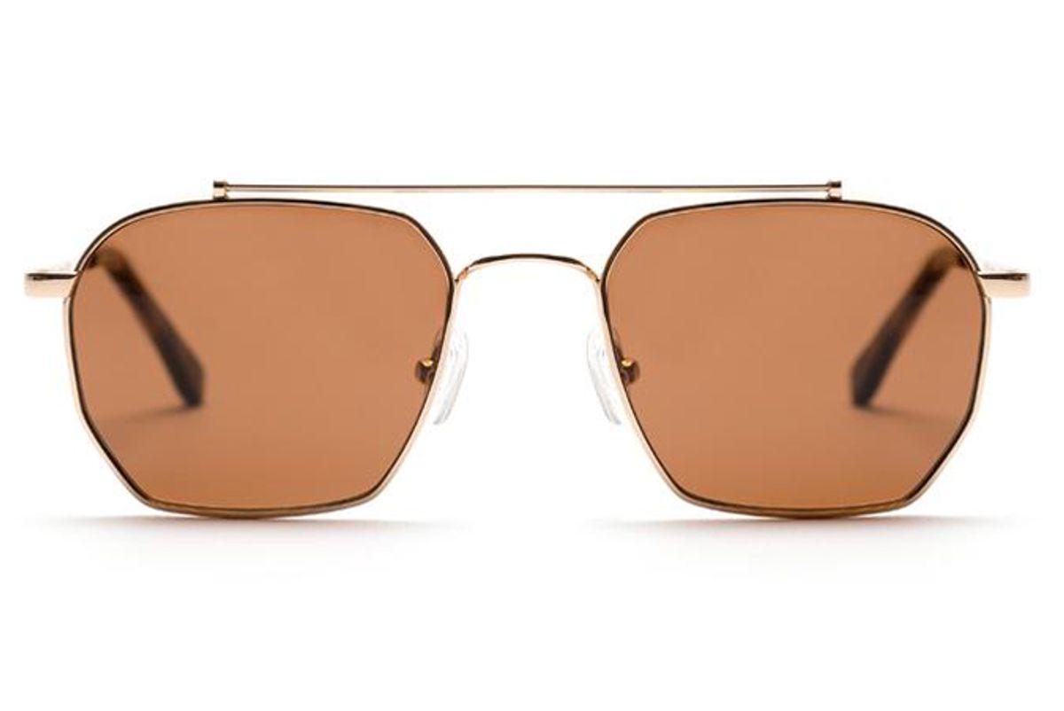 vehla bowie gold sunglasses