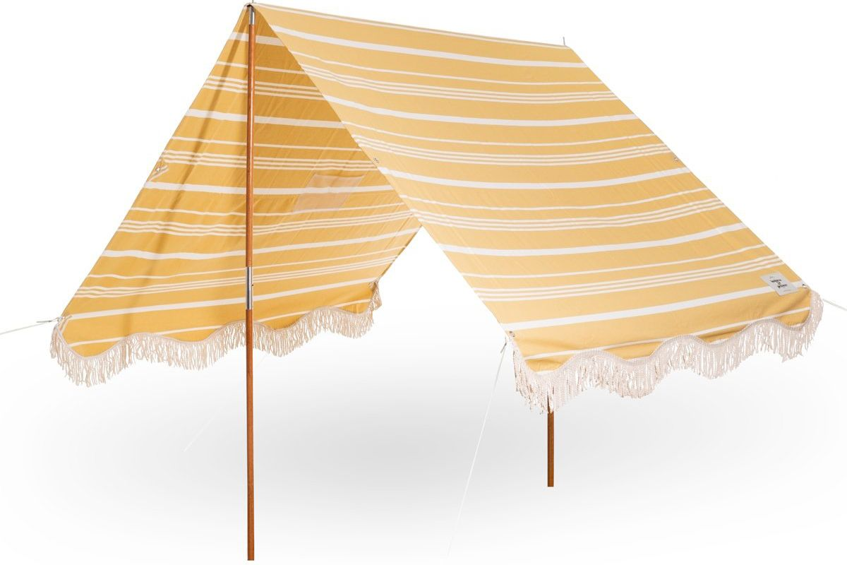 business and pleasure co the premium beach tent vintage yellow stripe