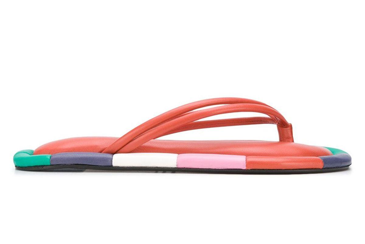 isabel marant ecksa leather flip flops
