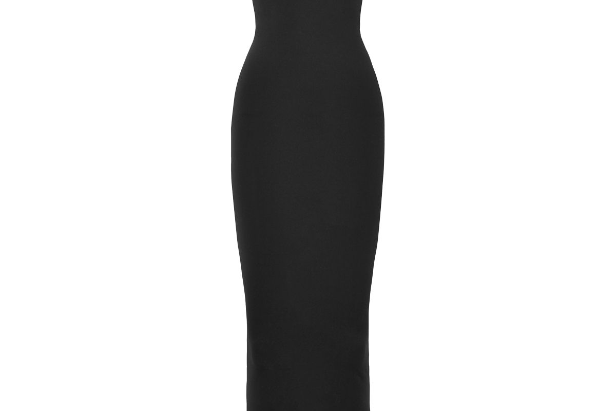 wolford fatal strapless stretch jersey maxi dress