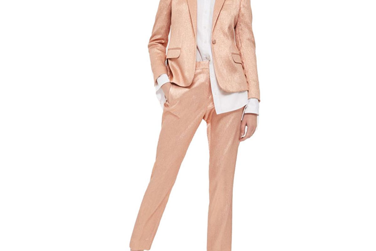 Metallic Suit Jacket and Trousers