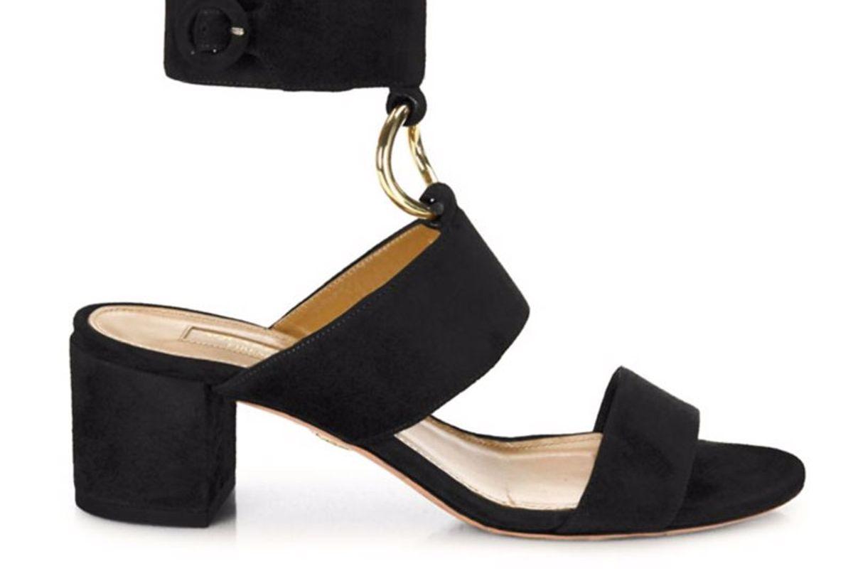 Safari Suede Block Heel Sandals