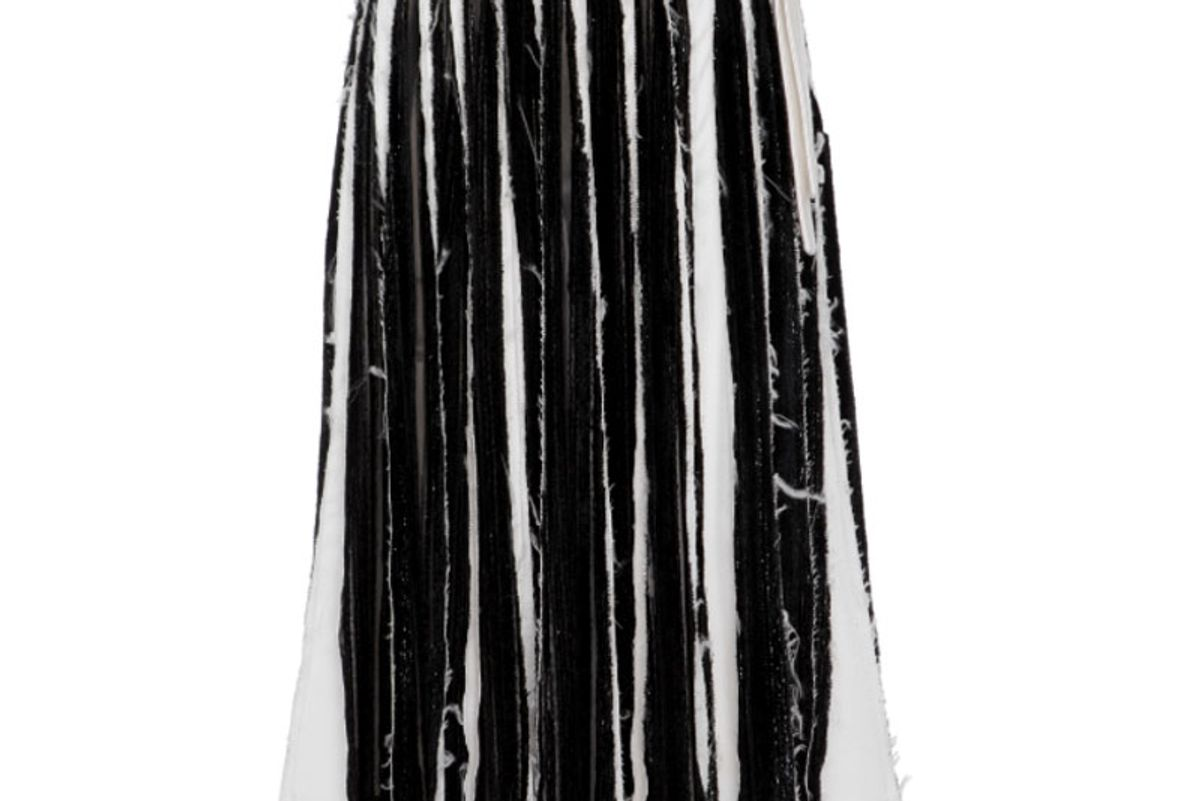 Slashed Velvet and Silk Skirt
