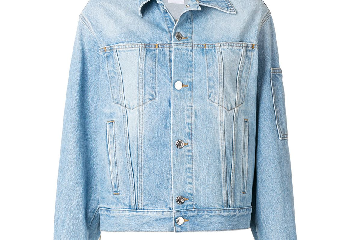 helmut lang bead fringe denim jacket