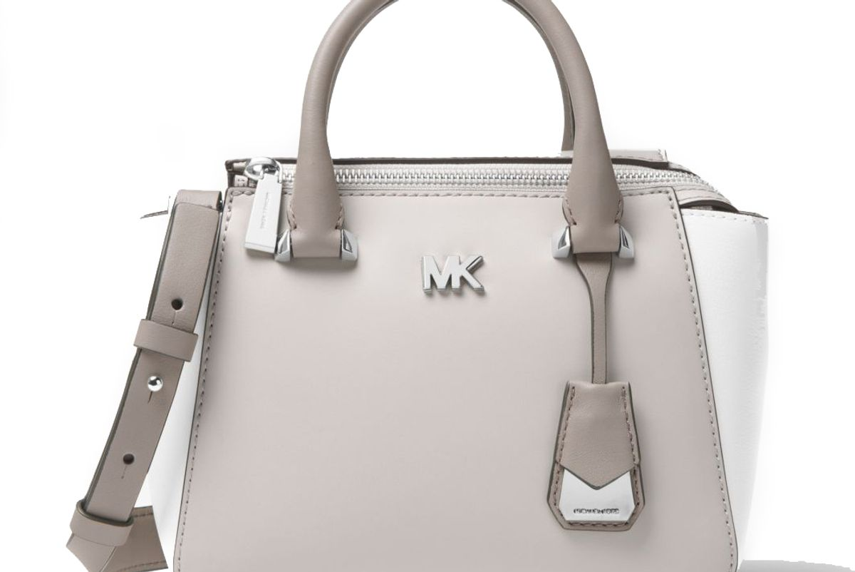 michael michael kors nolita mini color-block leather crossbody bag