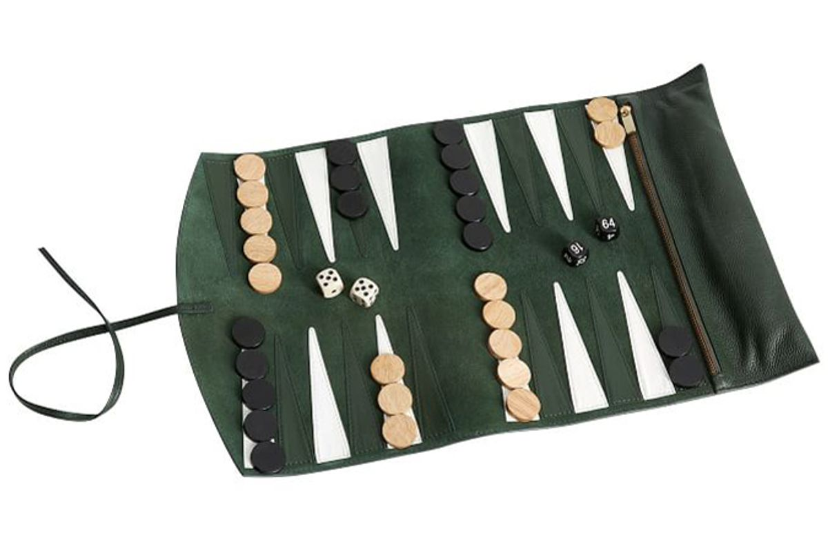 pottery barn travel backgammon game