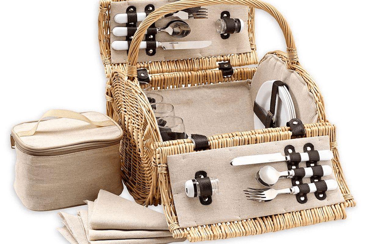 over and back laurel barrel picnic basket