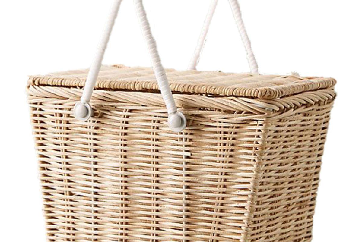 ollie ella wicker picnic basket
