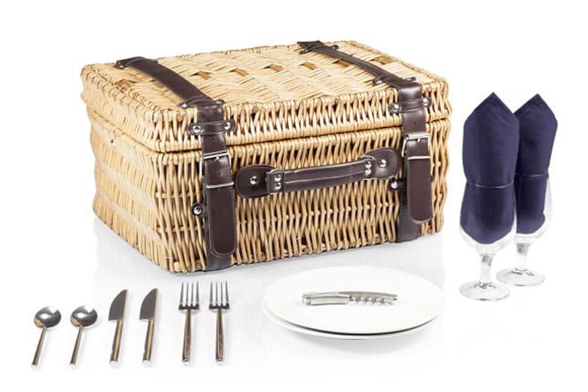 west elm vintage navy picnic basket