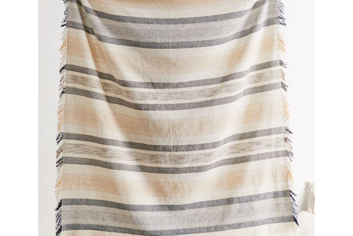 urban outfitters natural island throw blanket