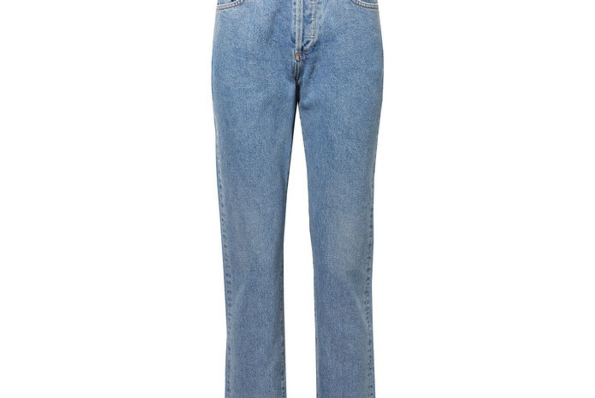 goldsign the benefit high rise straight leg jeans