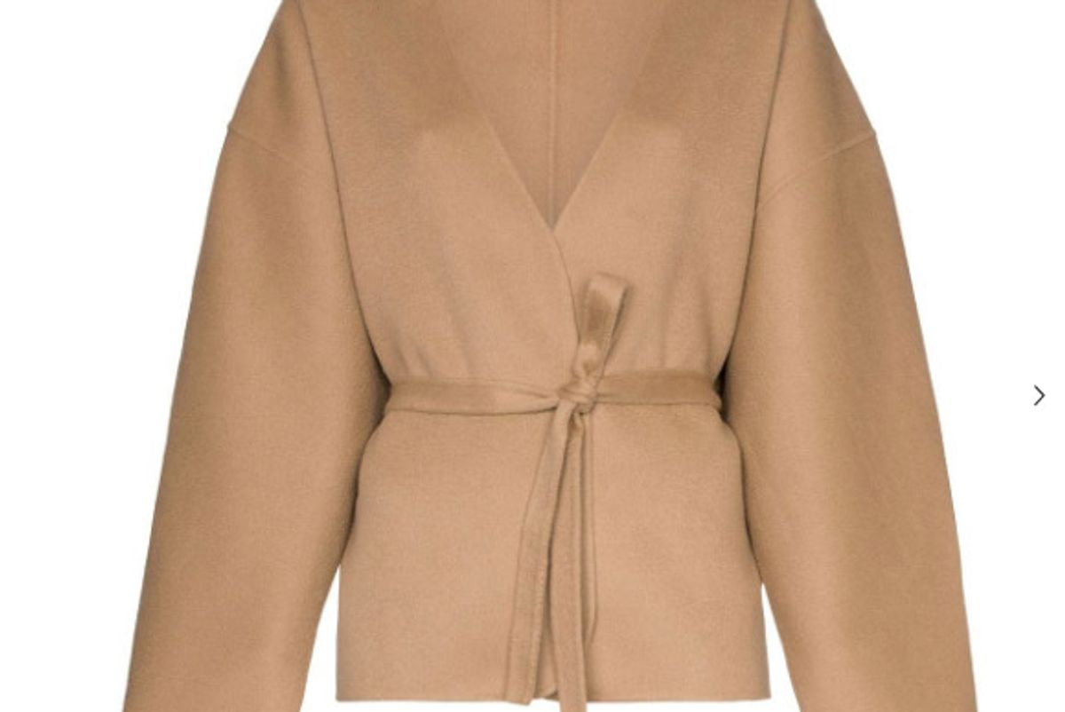 toteme lunel knitted belted jacket