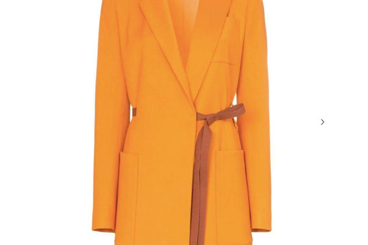 roksanda bleyda ribbon tie wrap blazer jacket