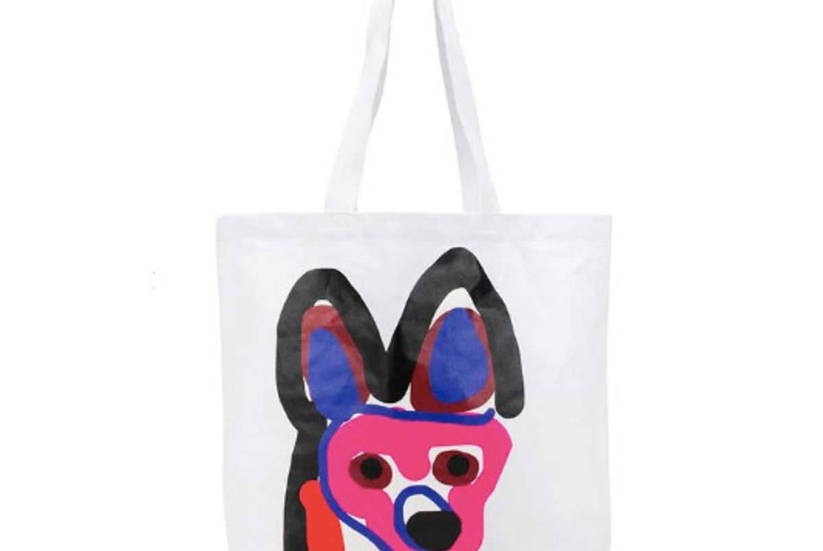 maison kitsune acide fox tote