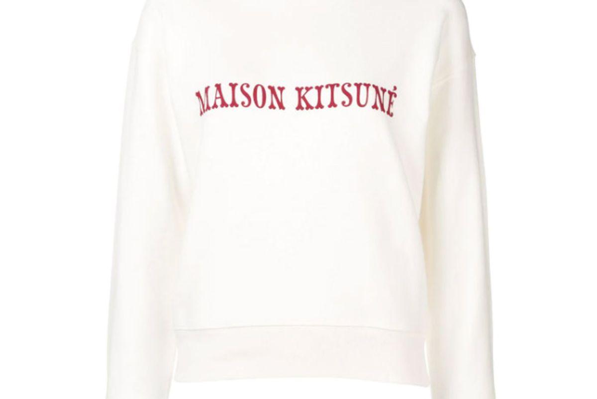 maison kitsune logo print sweatshirt
