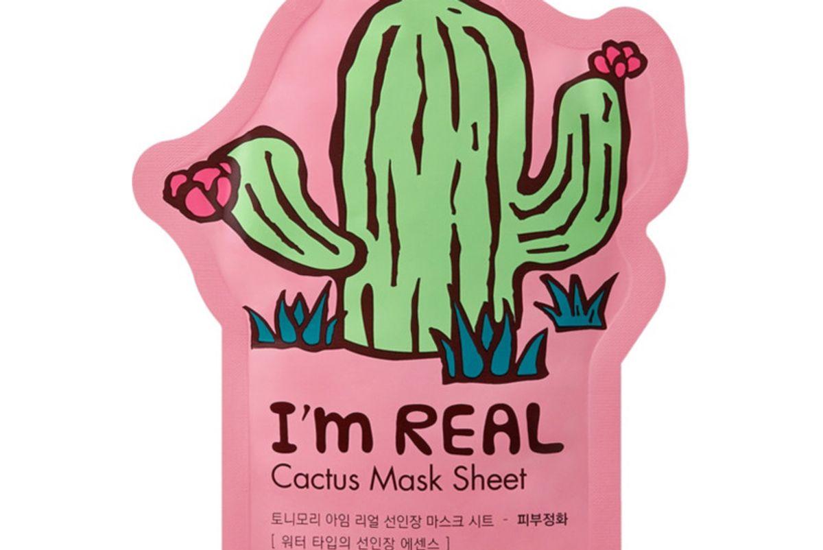 tonymoly im real cactus sheet mask