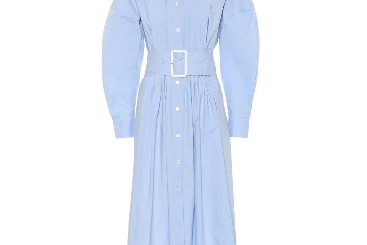 bottega veneta cotton midi dress